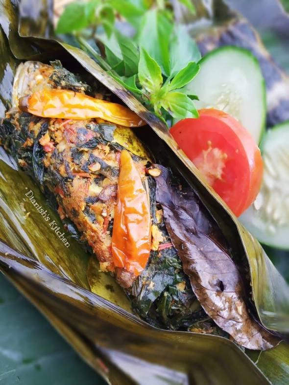 Resep Pepes Ikan Kembung Daun Singkong