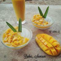 Resep Bubur Sumsum saus Mangga